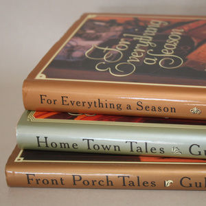 none Accents - 3 Small Signed Hardcover Books for Shelf Decor